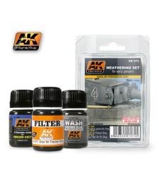 AK072 EARLY PANZERS  - Weathering Set (3 x 35 ml)