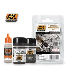 AK091 INTERIOR  - Weathering Set (3 x 35 ml)