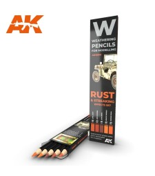 AK10041 WATERCOLOR PENCIL SET RUST AND STREAKING EFFECTS (5 pieces)