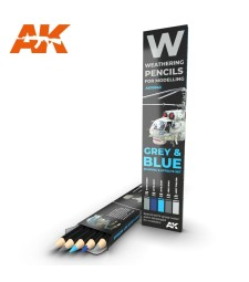 AK10043 WATERCOLOR PENCIL SET GREY AND BLUE
