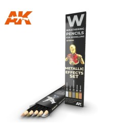 AK10046 WATERCOLOR PENCIL SET METALLICS