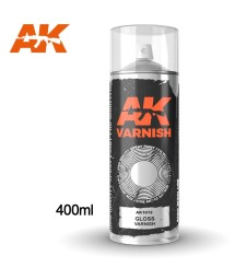 AK1012 Gloss Varnish - Spray 400 ml (Includes 2 nozzles)