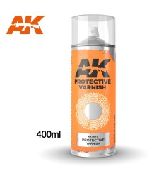 AK1015 Protective Varnish - Spray 400 ml (Includes 2 nozzles)