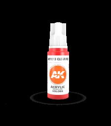 AK11213 Clear Red (17 ml) - 3rd Generation Acrylic