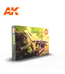 AK11600 ORCS AND GREEN CREATURES SET - (6 x 17 ml) - 3rd Generation Acrylic