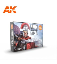 AK11601 NON METALLIC METAL: STEEL SET - (6 x 17 ml) - 3rd Generation Acrylic