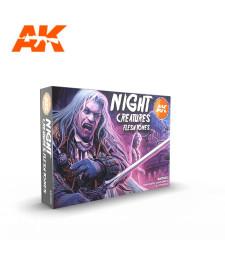 AK11602 NIGHT CREATURES FLESH TONE SET - (6 x 17 ml) - 3rd Generation Acrylic