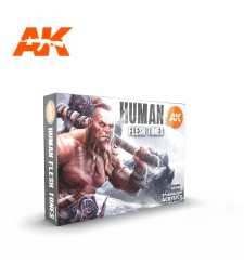 AK11603 HUMAN FLESH TONES SET - (6 x 17 ml) - 3rd Generation Acrylic