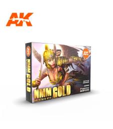 AK11606 NMM (Non Metallic Metal) GOLD Set - (6 x 17 ml) - 3rd Generation Acrylic