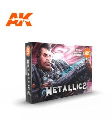 AK11608 METALLICS SET - (6 x 17 ml) - 3rd Generation Acrylic