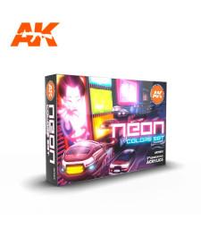 AK11610 NEON COLORS SET - (6 x 17 ml) - 3rd Generation Acrylic