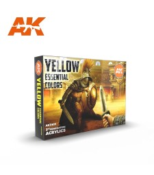 AK11615 YELLOW ESSENTIAL COLORS - (6 x 17 ml) - 3rd Generation Acrylic