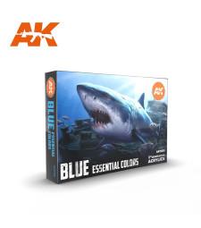 AK11618 BLUE UNIFORM COLORS - (6 x 17 ml) - 3rd Generation Acrylic