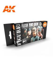 AK11621 FLESH AND SKIN COLORS - (4 x 17 ml) - 3rd Generation Acrylic