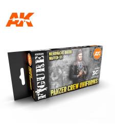 AK11622 PANZER CREW BLACK UNIFORMS SET - (6 x 17 ml) - 3rd Generation Acrylic