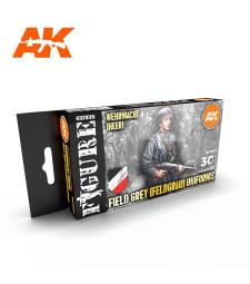 AK11627 GERMAN FIELD GREY UNIFORMS - (6 x 17 ml) - 3rd Generation Acrylic