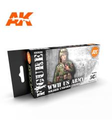 AK11634 WW2 US UNIFORMS - (6 x 17 ml) - 3rd Generation Acrylic