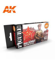 AK11635 SOVIET WWII UNIFORM COLORS - (6 x 17 ml) - 3rd Generation Acrylic