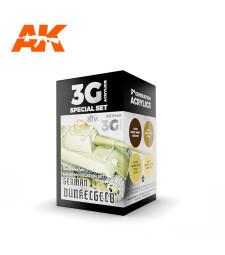 AK11640 GERMAN DUNKELGELB MODULATION SET - (4 x 17 ml) - 3rd Generation Acrylic