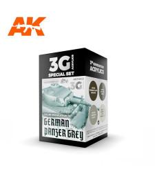 AK11642 GERMAN PANZER GREY MODULATION SET - (4 x 17 ml) - 3rd Generation Acrylic