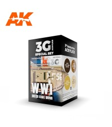 AK11644 WWI BRITISH COLORS MODULATION SET - (4 x 17 ml) - 3rd Generation Acrylic