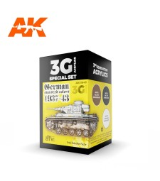 AK11645 GERMAN STANDARD 37-44 COMBO - (3 x 17 ml) - 3rd Generation Acrylic