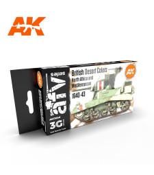 AK11646 BRITISH DESERT COLOURS - (6 x 17 ml) - 3rd Generation Acrylic