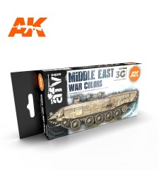 AK11648 MIDDLE EAST WAR COLORS - (6 x 17 ml) - 3rd Generation Acrylic