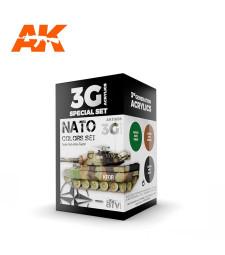 AK11658 NATO COLORS - (3 x 17 ml) - 3rd Generation Acrylic