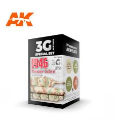 AK11669 PANZER COLORS 1946 - (4 x 17 ml) - 3rd Generation Acrylic