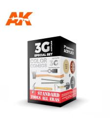 AK11670 STANDARD TOOLS ALL ERAS COMBO - (3 x 17 ml) - 3rd Generation Acrylic