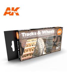 AK11672 TRACKS AND WHEELS - (6 x 17 ml) - 3rd Generation Acrylic