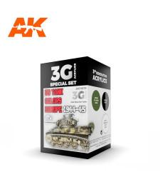 AK11675 US TANK COLORS EUROPE 1944-45 - (3 x 17 ml) - 3rd Generation Acrylic