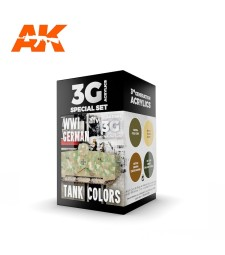 AK11686 WWI GERMAN TANK COLORS - (4 x 17 ml) - 3rd Generation Acrylic