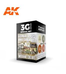 AK11688 GERMAN WWII TANK INTERIOR COLORS - (4 x 17 ml) - 3rd Generation Acrylic