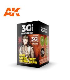 AK11692 WWII SOVIET UNIFORM COLORS - (4 x 17 ml) - 3rd Generation Acrylic
