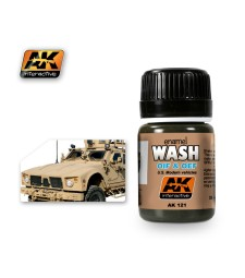 AK121 WASH FOR OIF & OEF - US VEHICLES  - Weathering Products (35 ml)