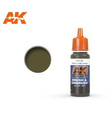 AK134 Olive Drab Base - Blue Label Acrylic Paints (17 ml)