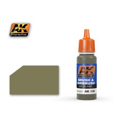 AK-136 OLIVE DRAB HIGH LIGHTS - Blue Label Acrylic Paints (17 ml)