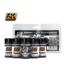 AK2037 EXAUSTS & STAINS  - Air Weathering Set (5 x 35 ml)