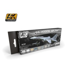 AK2050 U.S. MODERN AIRCRAFT 1 - Air Series Set (8 x 17 ml)