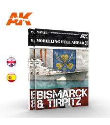 AK249 MODELLING FULL AHEAD 3: BISMARK & TIRPITZ (EN)
