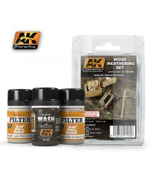 AK260 WOOD  - Weathering Set (3 x 35 ml)