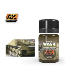 AK300 WASH FOR DARK YELLOW VEHICLES  - Weathering Products (35 ml)