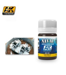 AK301 DARK WASH FOR WOOD DECKS  (35 ml) - Weathering Products for Ships