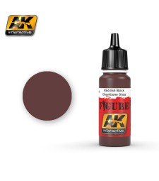 AK-3016 REDDISH BLACK CHEEKBONE GLAZE - Figure Series Acrylic Paints (17 ml)