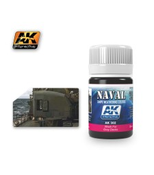 AK302 WASH FOR GREY DECKS  (35 ml) - Weathering Products for Ships