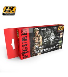 AK3020 M-44 CAMOUFLAGE UNIFORM COLORS SET - Figures Series Set (6 x 17 ml)