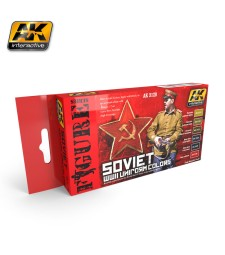 AK3120 SOVIET WWII UNIFORM COLORS - Figures Series Set (6 x 17 ml)