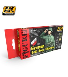 AK3140 GERMAN FIELD GREY UNIFORMS - Figures Series Set (6 x 17 ml)